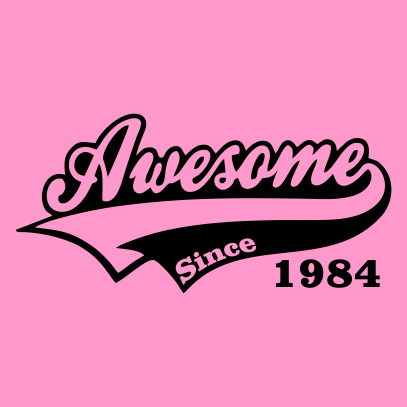 awesome since light pink