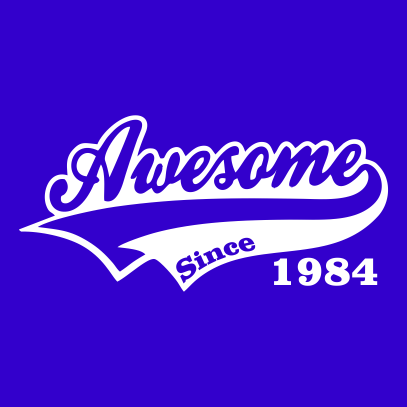awesome since royal blue