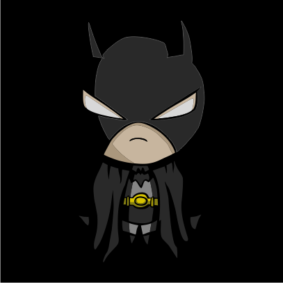batman figurine black