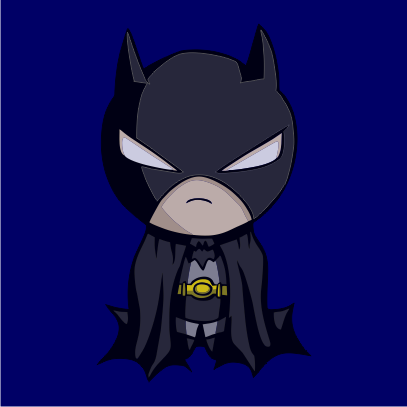batman figurine navy