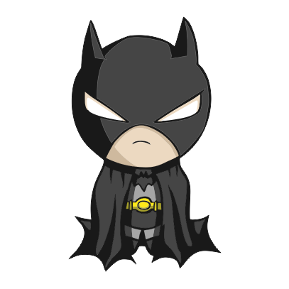 batman figurine white