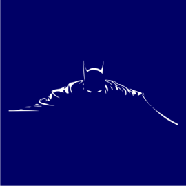 batman silhouette navy