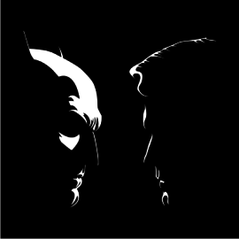 batman vs superman silhouette