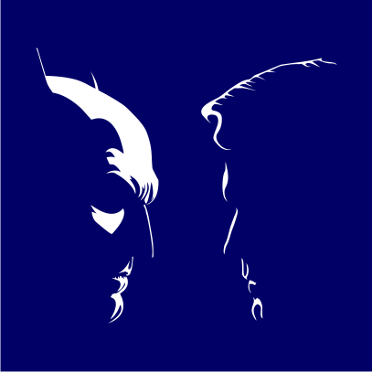 batman vs superman silhouette navy