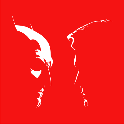 batman vs superman silhouette red