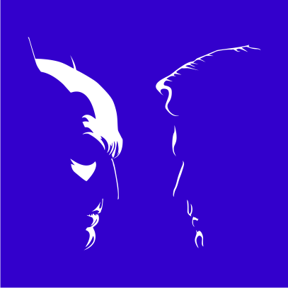 batman vs superman silhouette royal blue