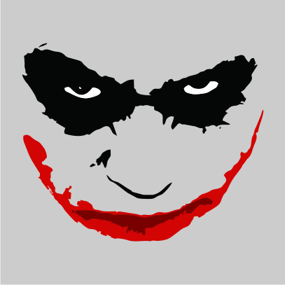 joker smile grey