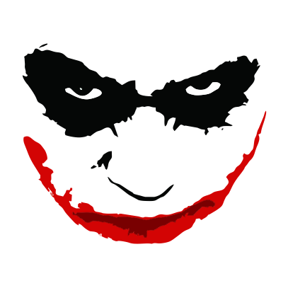 joker smile white