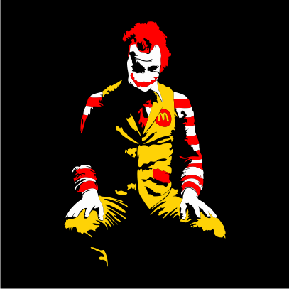 ronald mcdonald joker black