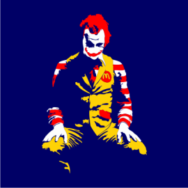 ronald mcdonald joker navy