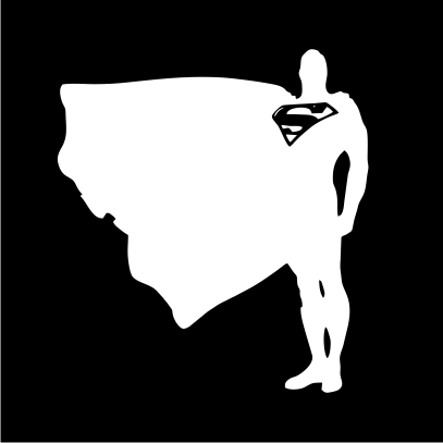superman proud and tall black
