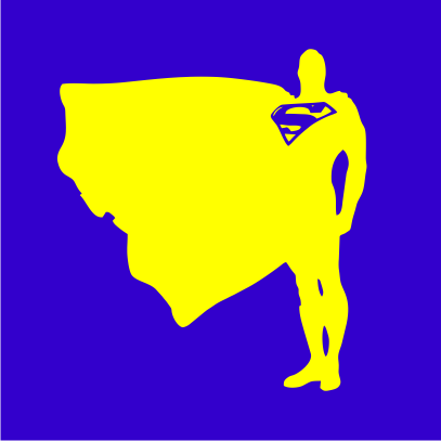 superman proud and tall royal blue