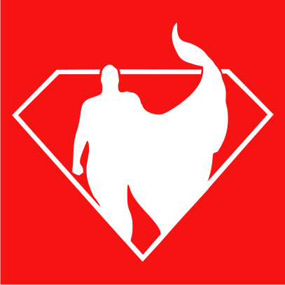 superman silhouette red