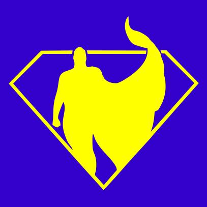 superman silhouette royal blue