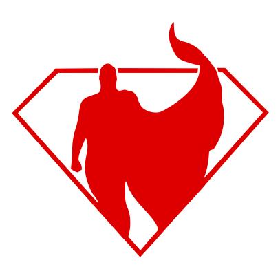 superman silhouette white