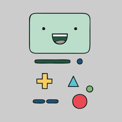 Adventure Time BMO grey