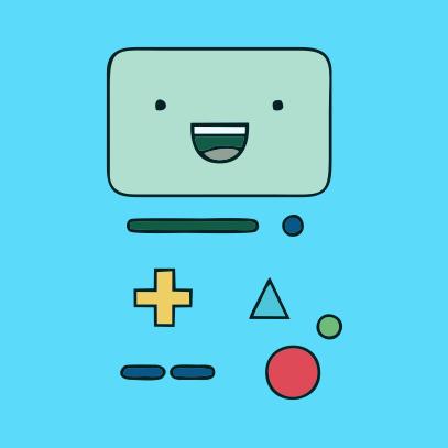Adventure Time BMO sky blue