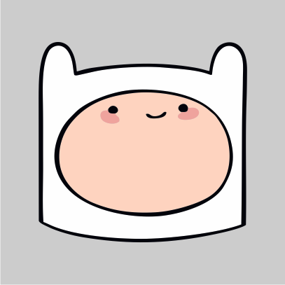 Adventure Time Finn grey