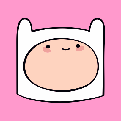 Adventure Time Finn light pink