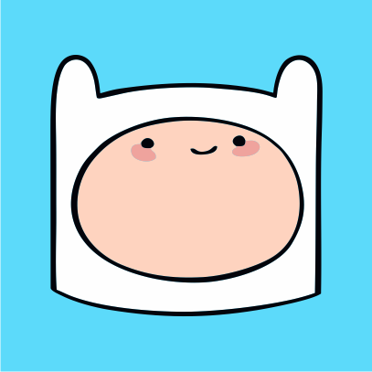Adventure Time Finn sky blue