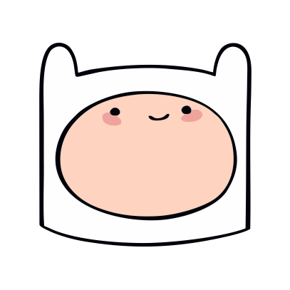 Adventure Time Finn white