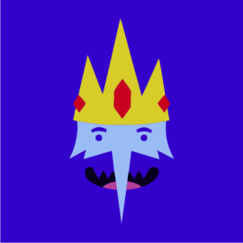 Adventure Time Ice King royal blue
