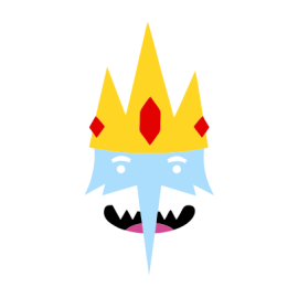 Adventure Time Ice King white
