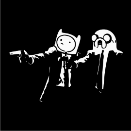 Adventure Time Pulp Fiction black