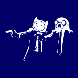 Adventure Time Pulp Fiction navy