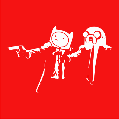 Adventure Time Pulp Fiction red