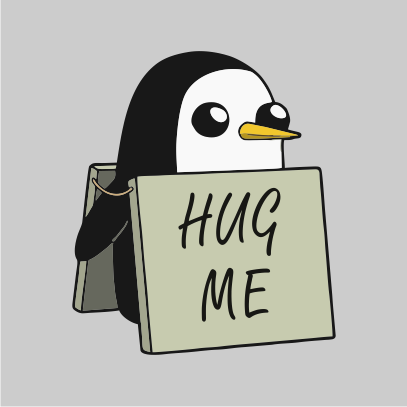 Adventure Time hug me grey
