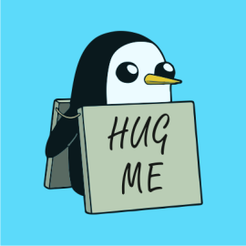 Adventure Time hug me sky blue