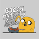 Adventure Time makin bacon pancakes grey