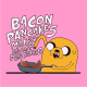 Adventure Time makin bacon pancakes light pink
