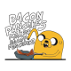 Adventure Time makin bacon pancakes white