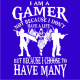 i am a gamer royal blue