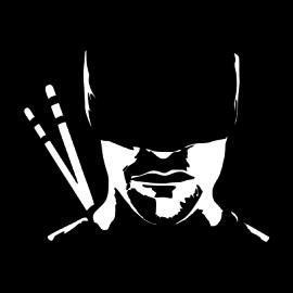 daredevil silhouette black