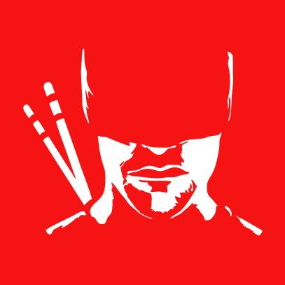 daredevil silhouette red