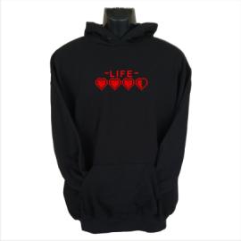 life hoodie black