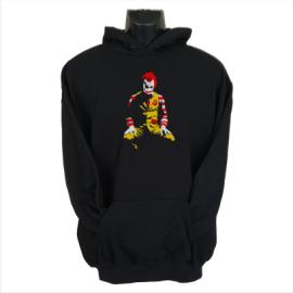 ronald mcdonald joker hoodie black
