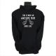awesome mom black hoodie