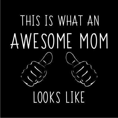 awesome mom black square