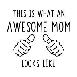 awesome mom white square