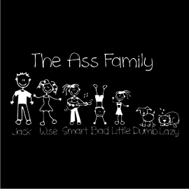 the ass family black square