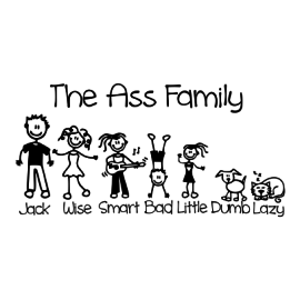 the ass family white square