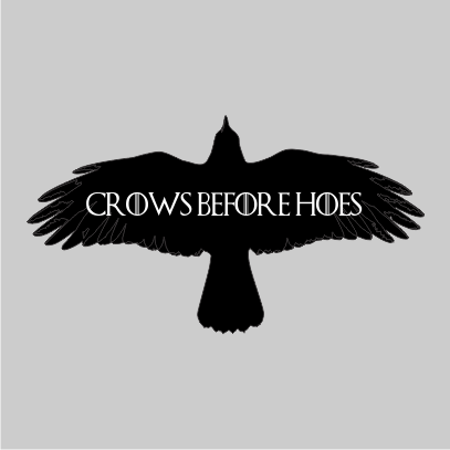 crows before hoes grey square