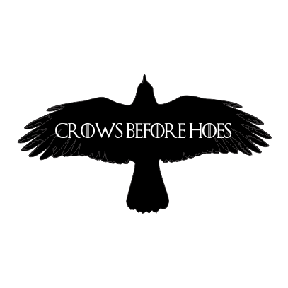 crows before hoes white square