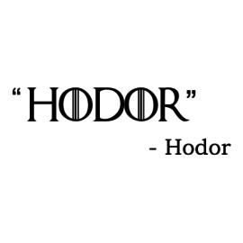 hodor white square