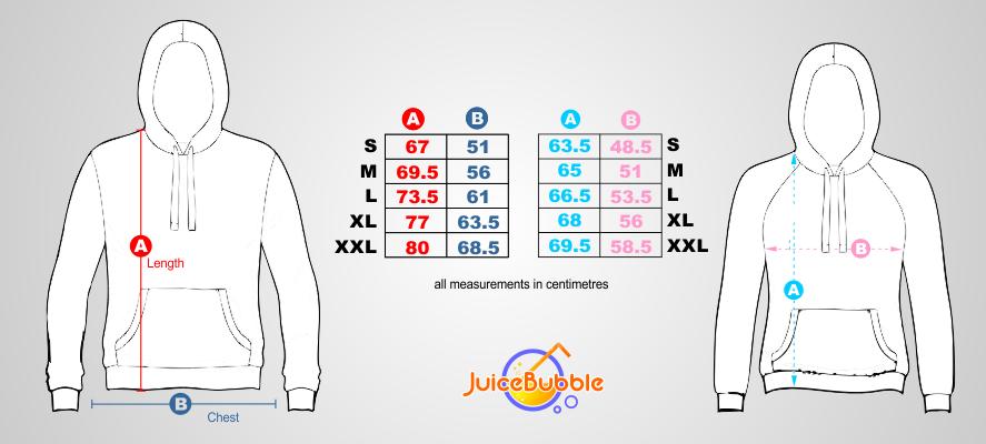 hoodie sizing guide