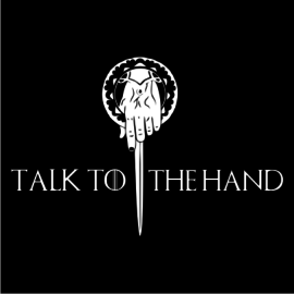 talk to the hand black square